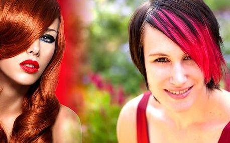 Barva nebo melír,mytí, keratinová regenerace, střih, foukaná, styling, poradenství.Ošetření vlasů aplikací keratinu zažehlením za studena.Vlasy jsou vizitkou každé ženy, využijte naší nabídky.