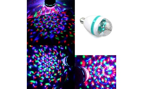 Barevná disco LED žárovka s paticí E27