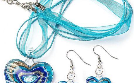 Sada šperků modrá