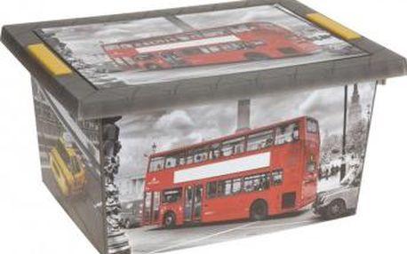 Úložný box s klip víkem plastový 40x30x20 cm DOUBLE-DECKER ProGarden KO-Y54970090