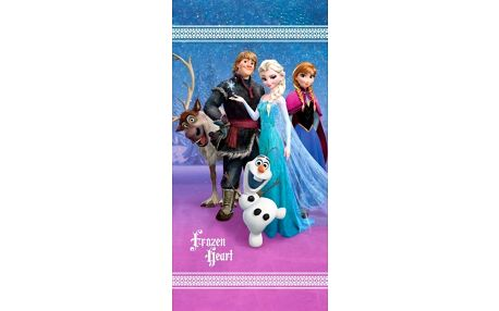 Jerry Fabrics Osuška Ledové království Frozen Heart, 75 x 150 cm