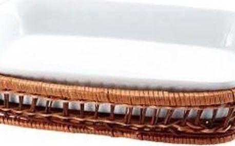 Porcelánová forma v košíku obdélník 29 x 16 cm cm WELLBERG WB-10309