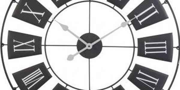 Nástěnné hodiny, 70x2 cm, kovové, černé EXCELLENT KO-HZ1003320