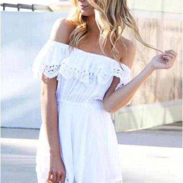 Letní šaty se spadenými rameny Felicitas