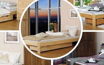 Krásná postel z masivu včetně roštu možno i s kvalitní matrací dle výběru.