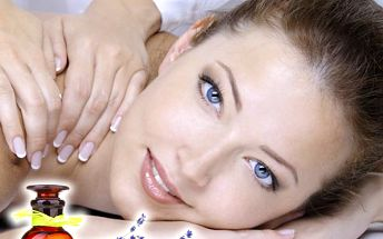 Hodinová regenerační levandulová masáž šíje, zad,ramen a plosek nohou v salonu Miruš v Plzni.