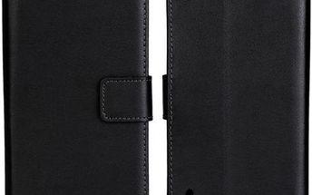 Ochranné kožené pouzdro pro Huawei Ascend P7 - černá barva