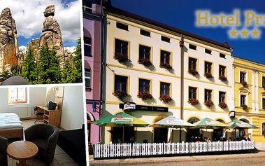 Přijměte pozvání do hotelu Praha Broumov s bohatou polopenzí pro dva na 3, 4 nebo 6 dní a vydejte se do největšího skalního města střední Evropy. Oblíbený cíl mnoha turistů i rodin s dětmi.