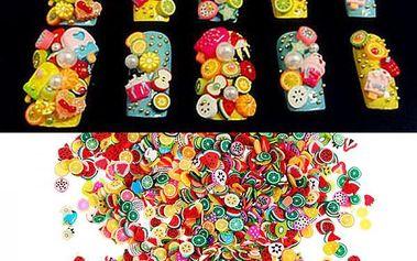 Sada nařezaných polymerových ozdob - 1000 kusů - dodání do 2 dnů