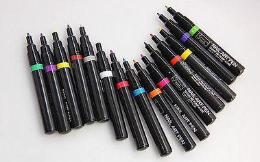 Barevné pero na zdobení nehtů - skladovka - poštovné zdarma