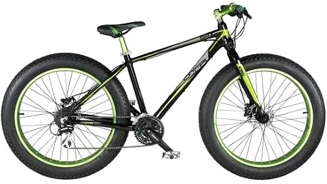 """Horské kolo Coppi 2016 King Fat bike, vel. 26"""" černé/zelené + Doprava zdarma"""