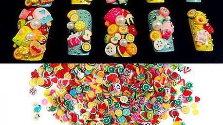 Sada nařezaných polymerových ozdob - 1000 kusů - skladovka - poštovné zdarma