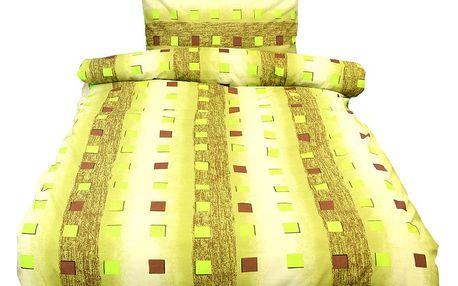 NOVIA Povlečení Comfort+, zelená, bavlna, 2 dílné, 140x200 70x90