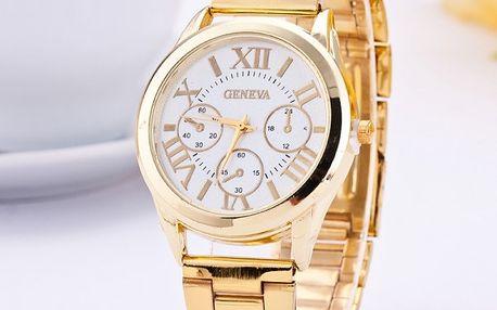 Kovové dámské hodinky ve dvou barvách - dodání do 2 dnů