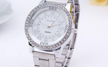 Kovové hodinky s velkým ciferníkem - dodání do 2 dnů