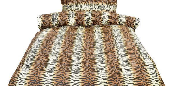 NOVIA Povlečení Comfort+, Tygr, bavlna, 2 dílné, 140x200 70x90