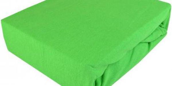 NOVIA Prostěradlo Jersey, 180x200cm, bavlna, Barva Zelená