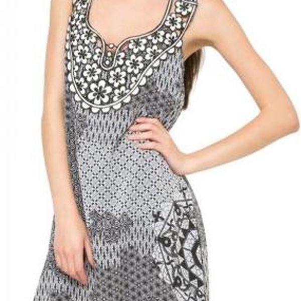 Desigual dámské šaty bez rukávů 40 šedá