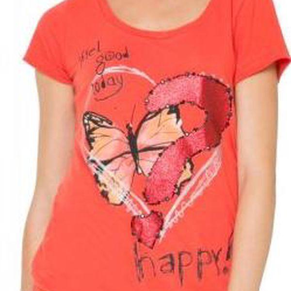Desigual dámské tričko L červená