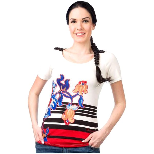 Desigual dámské tričko S smetanová