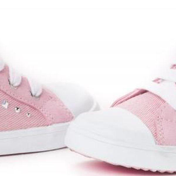 Geox dívčí kotníčkové tenisky 23 růžová