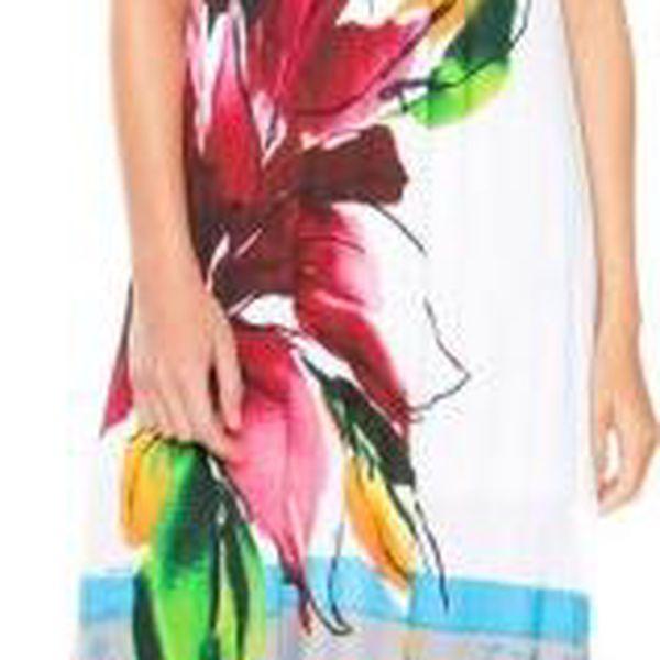 Desigual dámské dlouhé šaty S bílá