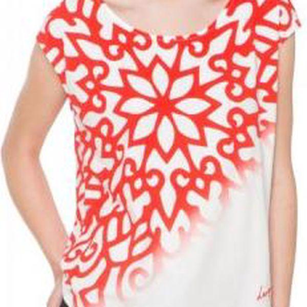 Desigual dámské tričko L bílá
