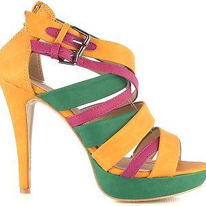 Sandálky na podpatku 5213YE