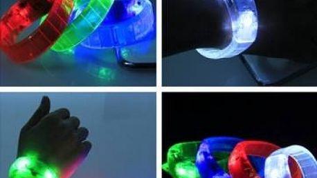 Na zvuk reagující LED náramek na párty
