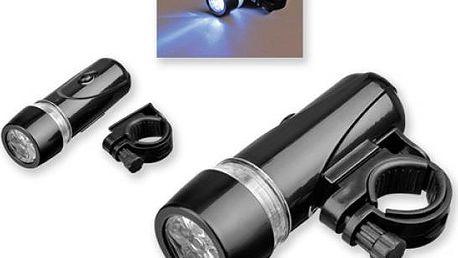 Plastová LED svítilna na kolo - skladovka - poštovné zdarma