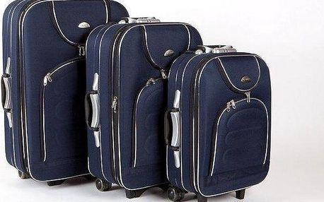 Sada 3 cestovních kufrů na kolečkách s výsuvným madlem a zámkem