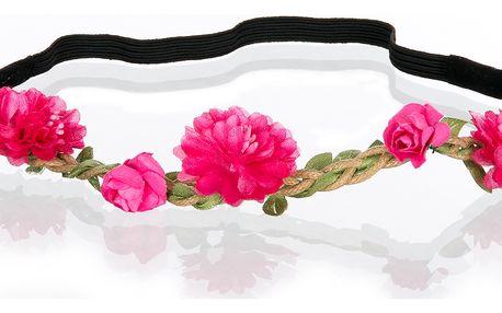 Čelenka do vlasů růžičky a kvítky