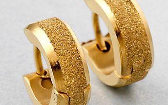 Náušnice s třpytivou dekorací - zlatá barva