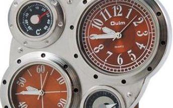 Pánské outdoorové hodinky s kompasem a teploměrem