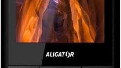Mobilní telefon Aligator D920 Dual Black Silver