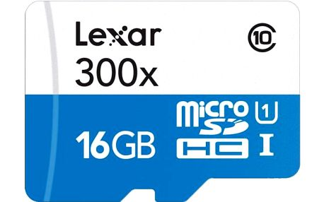 Lexar 16GB microSDHC 300x s adaptérem (Class 10)