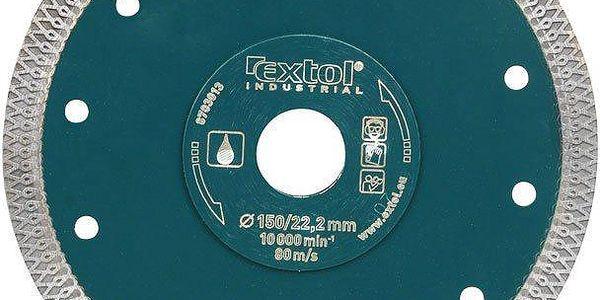 Extol Industrial (8703014) kotouč diamantový řezný turbo Thin Cut, 180x22.2mm, mokré řezání