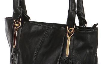 Elegantní zdobená kabelka černá