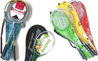 Badmintonová souprava Aluminium a De Luxe nebo tenisová raketa Runjang