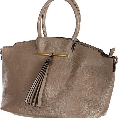 Velice módní dámská kabelka šedá