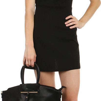Velice módní dámská kabelka černá