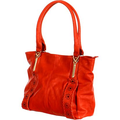 Elegantní zdobená kabelka červená