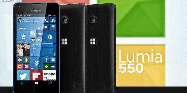 Microsoft Lumia 550, Černý + okamžitá sleva 500 Kč!