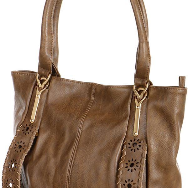 Dámská zdobená kabelka přes rameno černá2