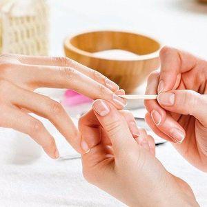 Japonská manikúra P-shine se zábalem rukou