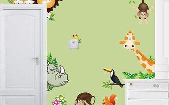 Samolepka - divoká zvířátka - dodání do 2 dnů