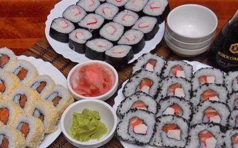 Japonská hostina: 64 kousků sushi s sebou