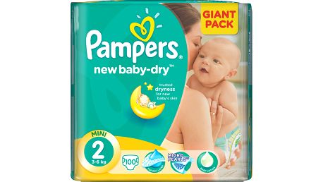 Pampers New Baby 2 Mini 3-6kg, 100 ks GIANT PACK - jednorázové pleny