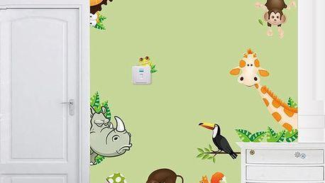 Samolepka - divoká zvířátka - skladovka - poštovné zdarma