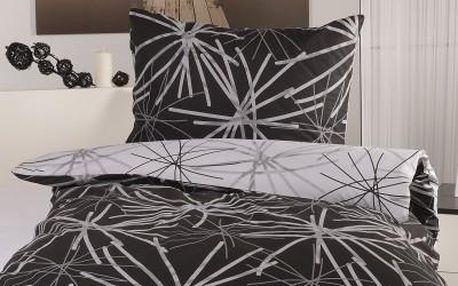 XPOSE ® Bavlněné povlečení na dvě lůžka SOFIA DUO - černá 70X90, 140X200
